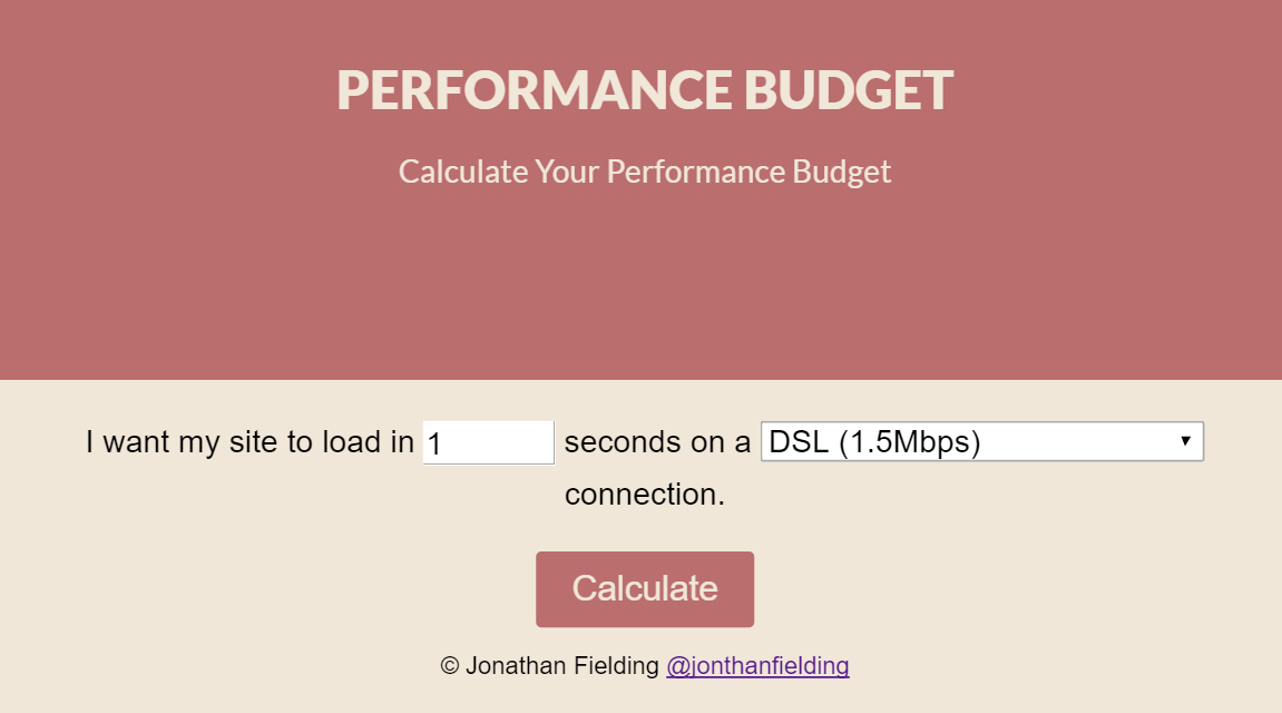 setting and calculating a web performance budget keycdn