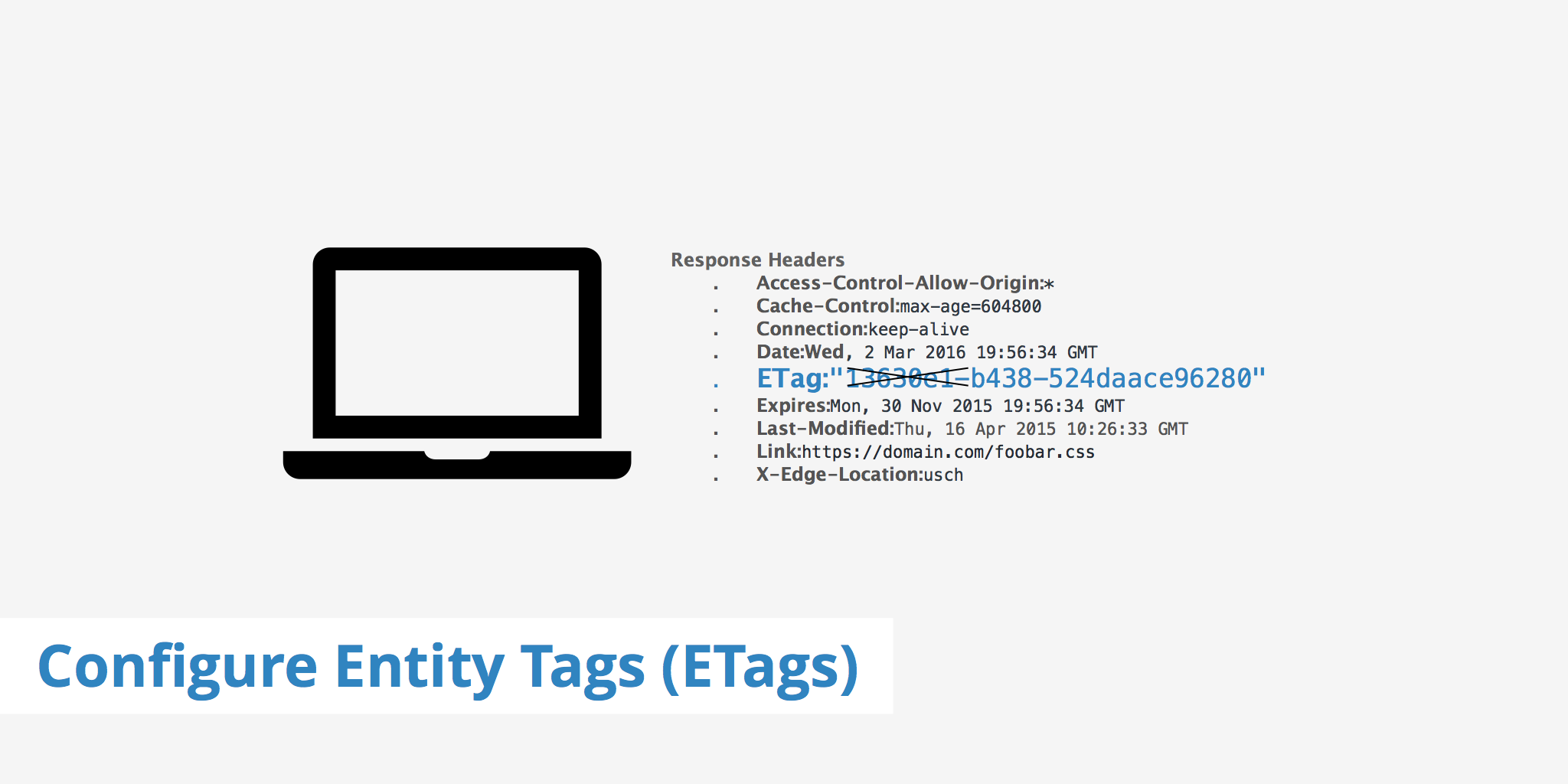 Configure Entity Tags (ETags)