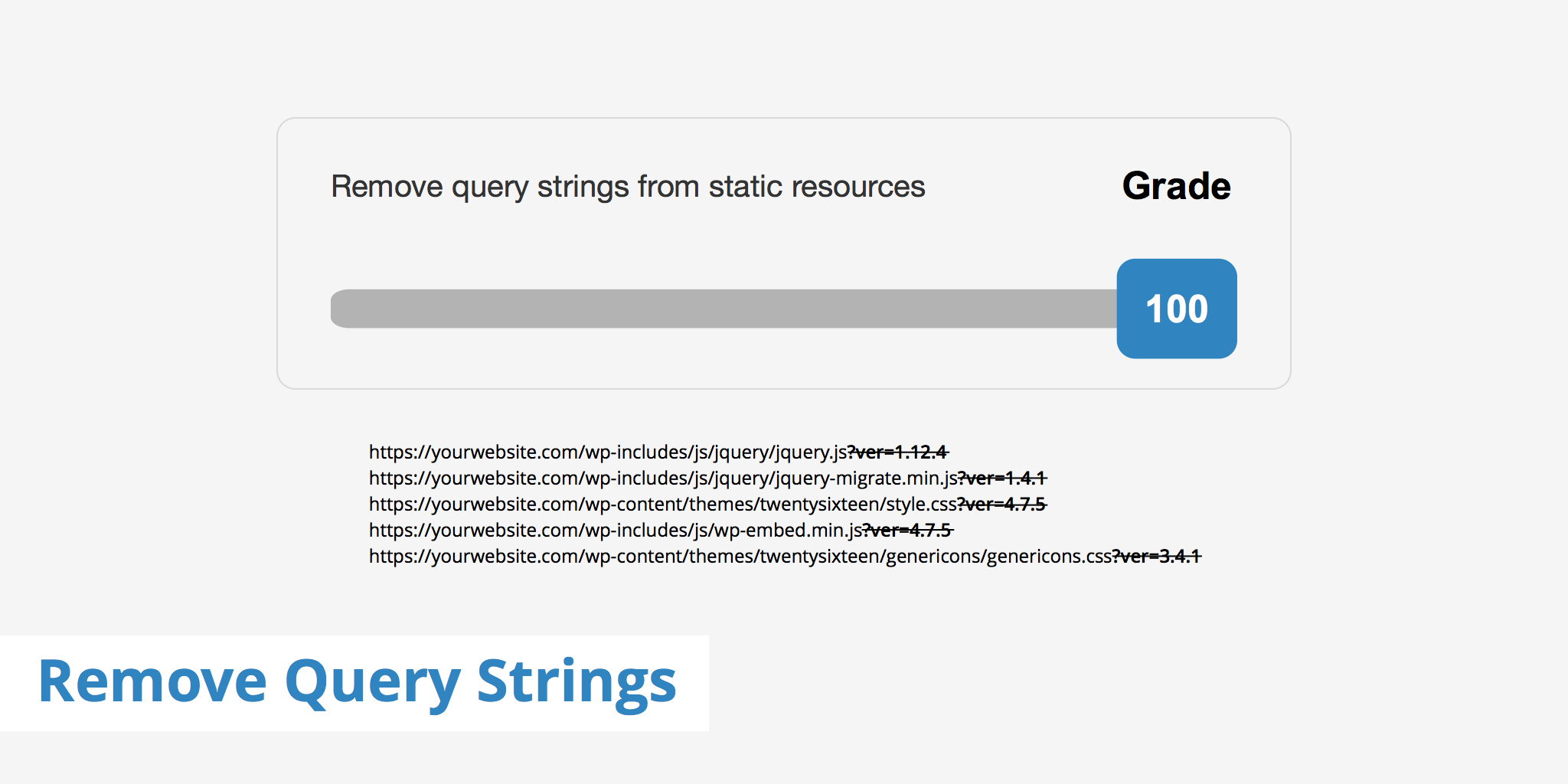 Remove Query Strings from Static Resources - KeyCDN Support